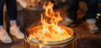 This miniature fire pit is perfectly sized for any backyard — and it's on sale