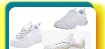 5 chunky white sneakers to match your trendy coats this fall
