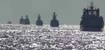 Russian, Chinese warships hold joint patrols
