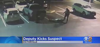 Video shows California deputy kicking suspect in head