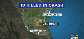 At least 10 dead as van carrying migrants crashes in Texas