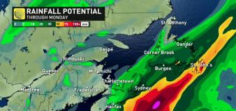 Odette slogs offshore of mid-Atlantic coast