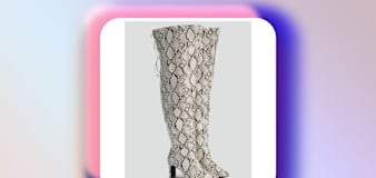 These wide calf thigh-high boots are 30 percent off