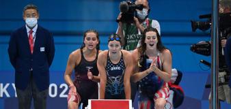 U.S. swimmers break world record — and lose