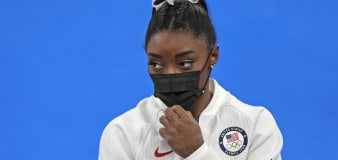 Simone Biles out of floor exercise event final