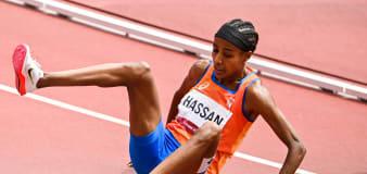Runner's sensational comeback after hard fall in race