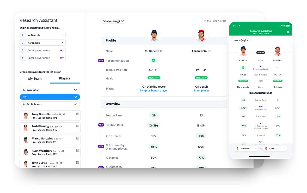 fantasy app research assistant