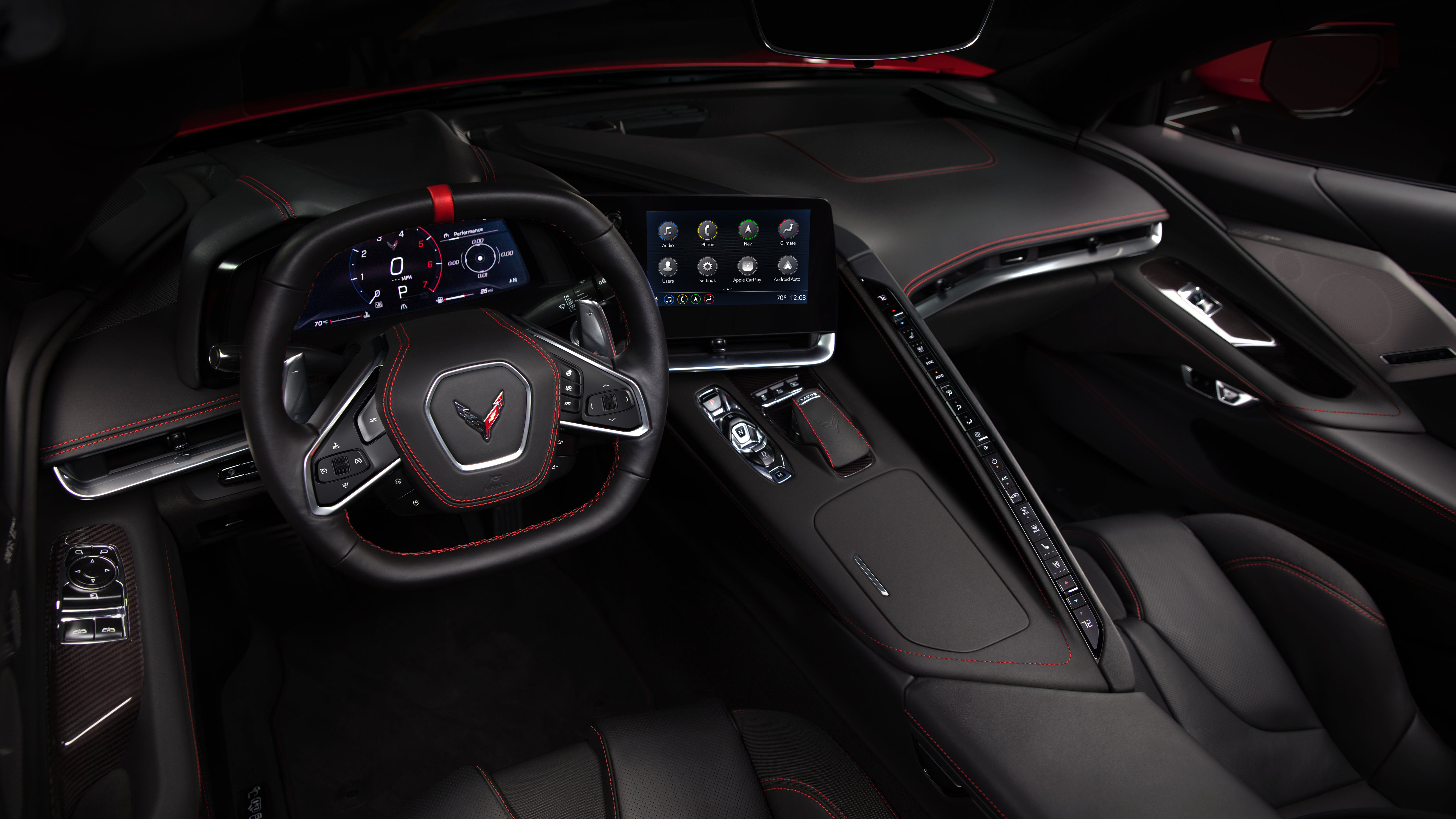This is the interior of the C8 Chevy Corvette | Autoblog