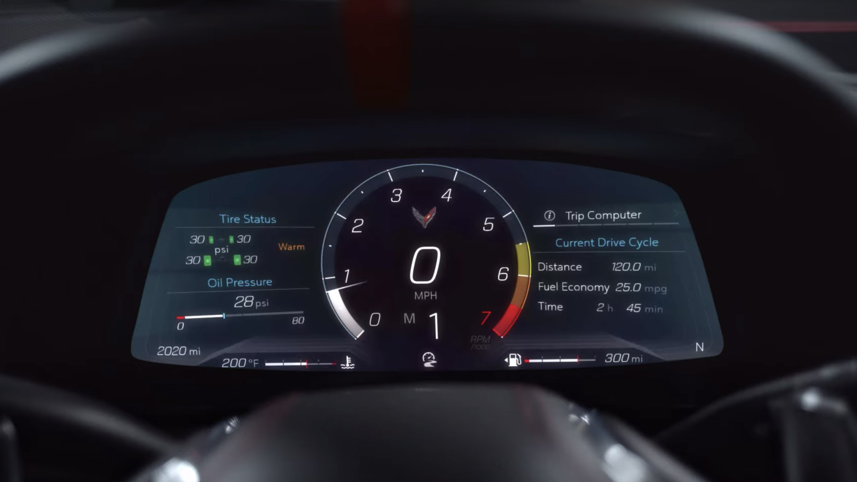 2020 Chevy Corvette C8 Z mode and digital instrument ...