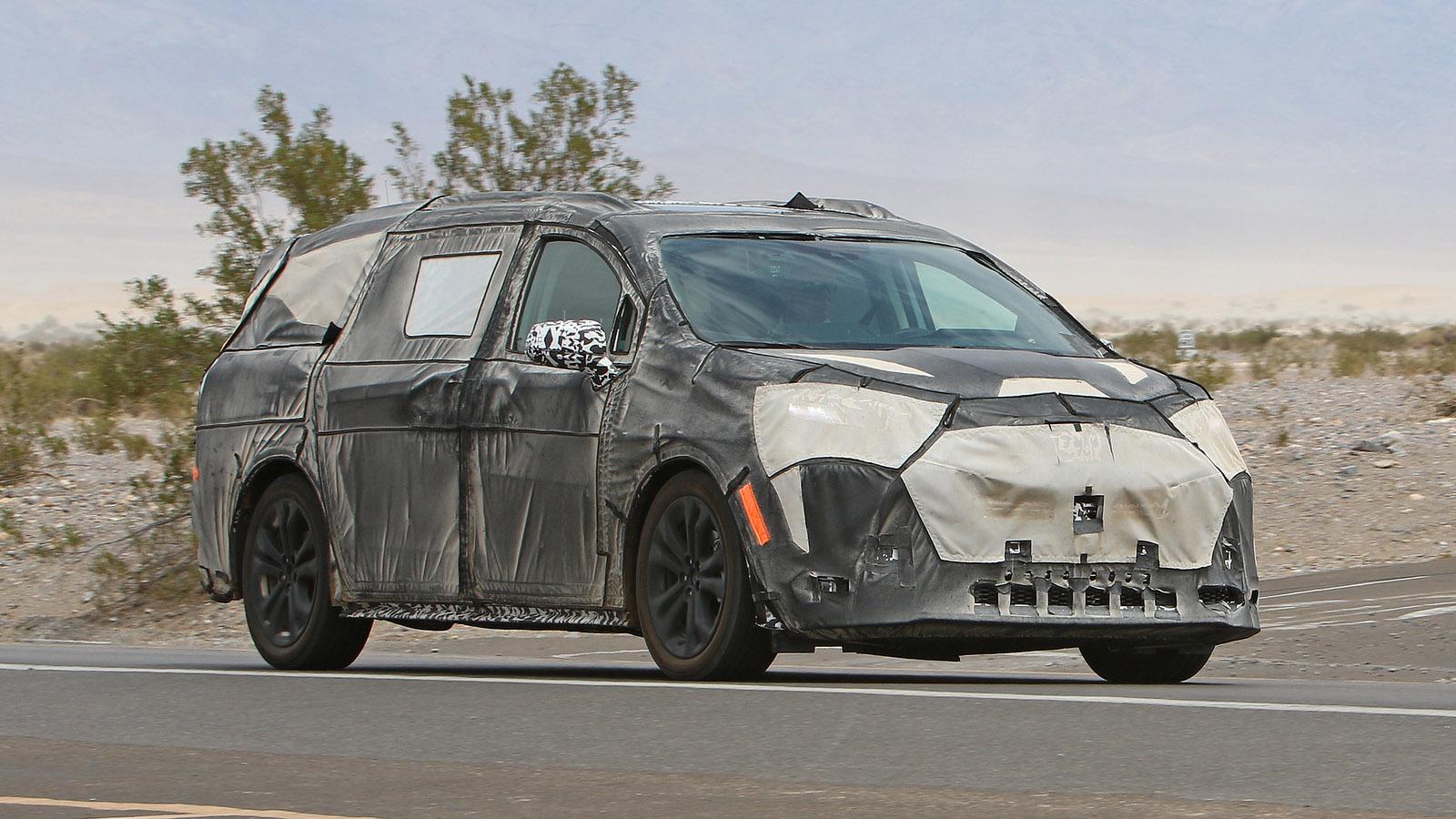 2021 Toyota Sienna caught testing in Death Valley - Autoblog