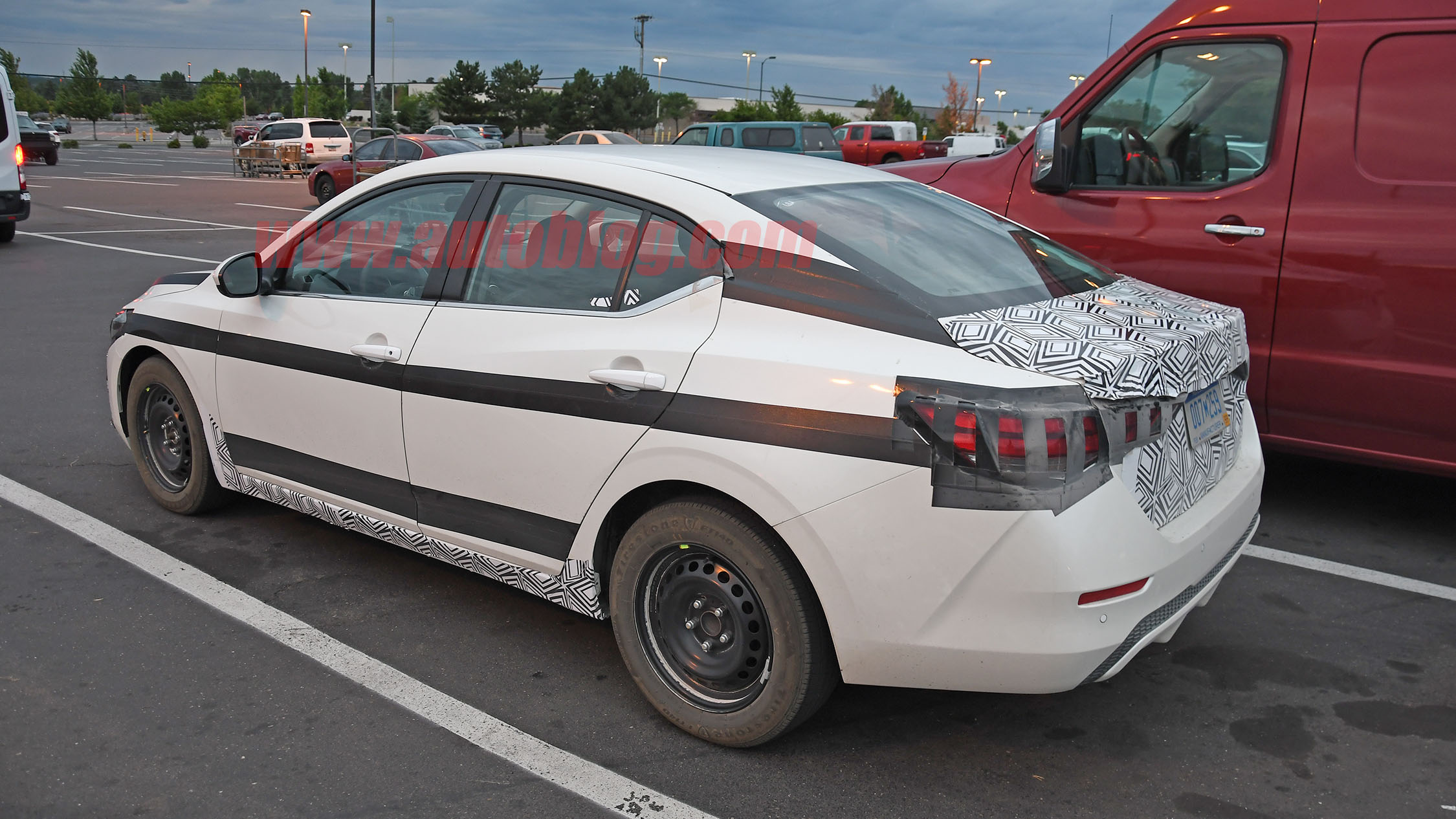 2020 Nissan Sentra spied with minimal camouflage, showing ...