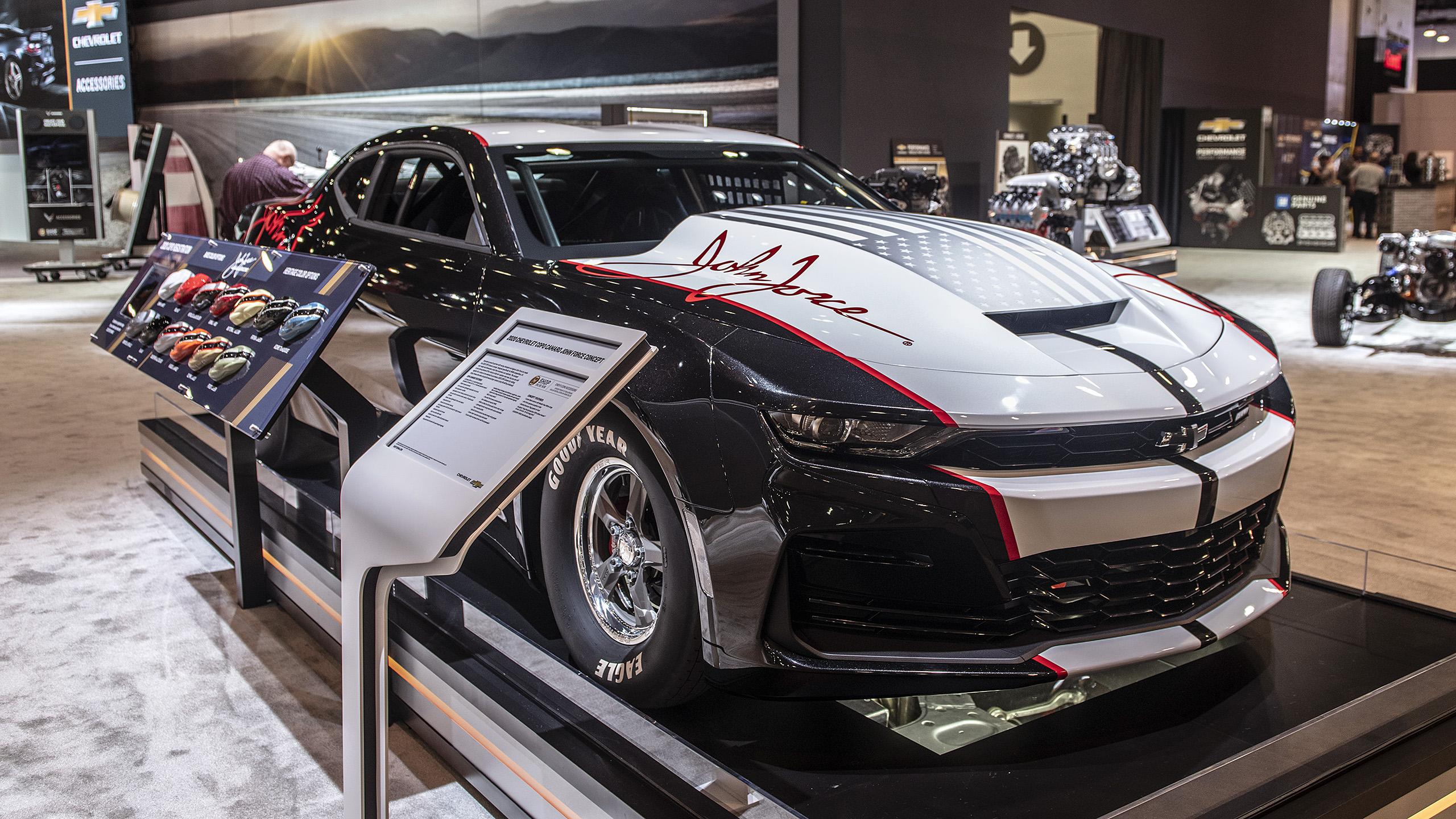 2020 Chevrolet COPO Camaro John Force unveiled at SEMA ...