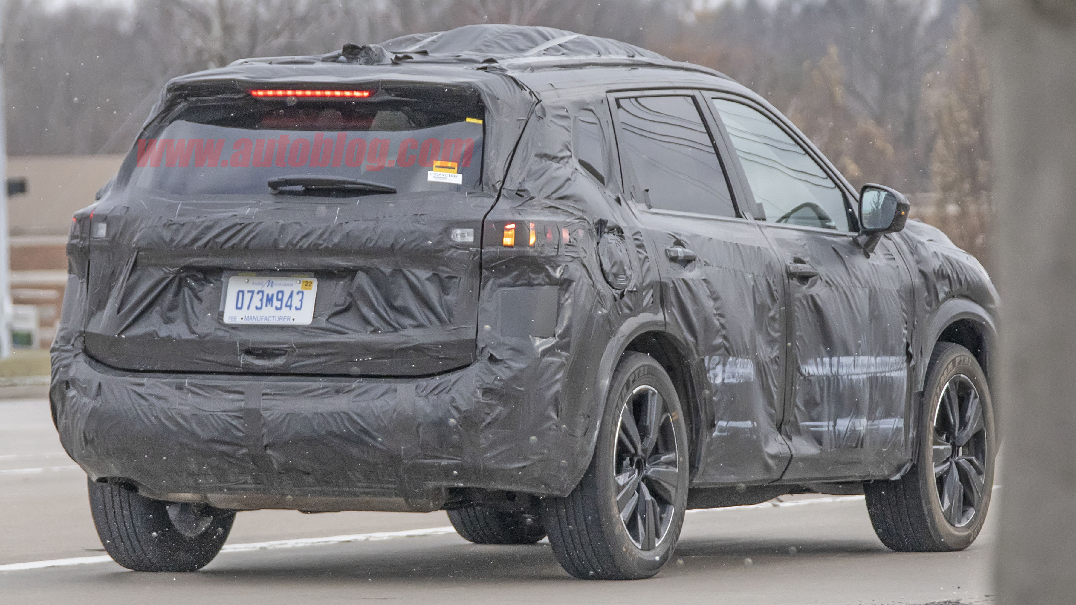 2021 nissan rogue spied inside and out with minimal camouflage
