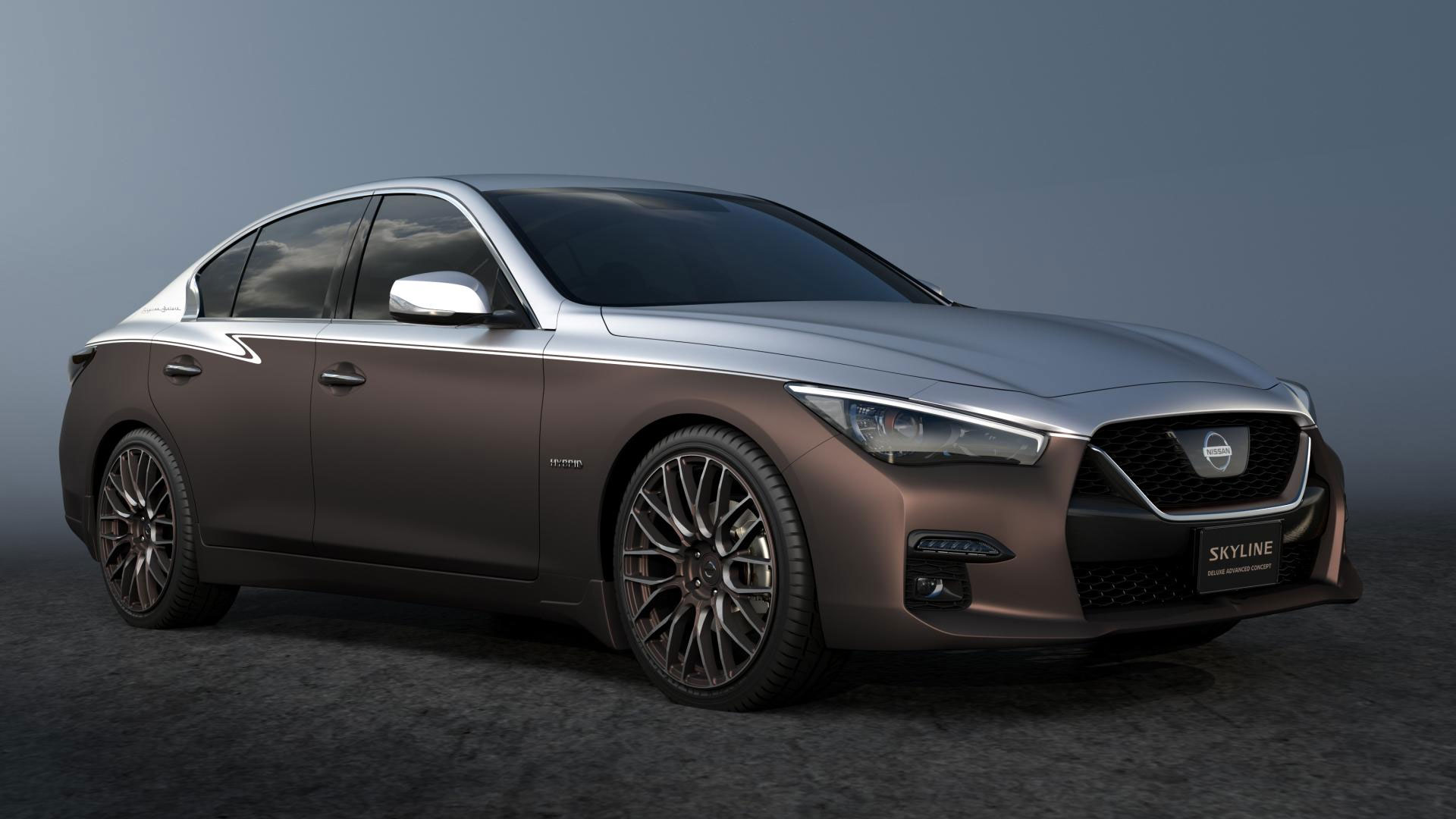 nissan doubles up on skyline concepts for 2020 tokyo auto salon