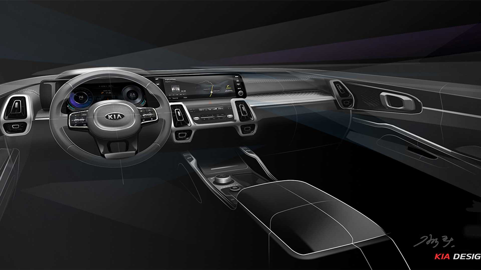 Kia Sorento's next-generation interior revealed in ...