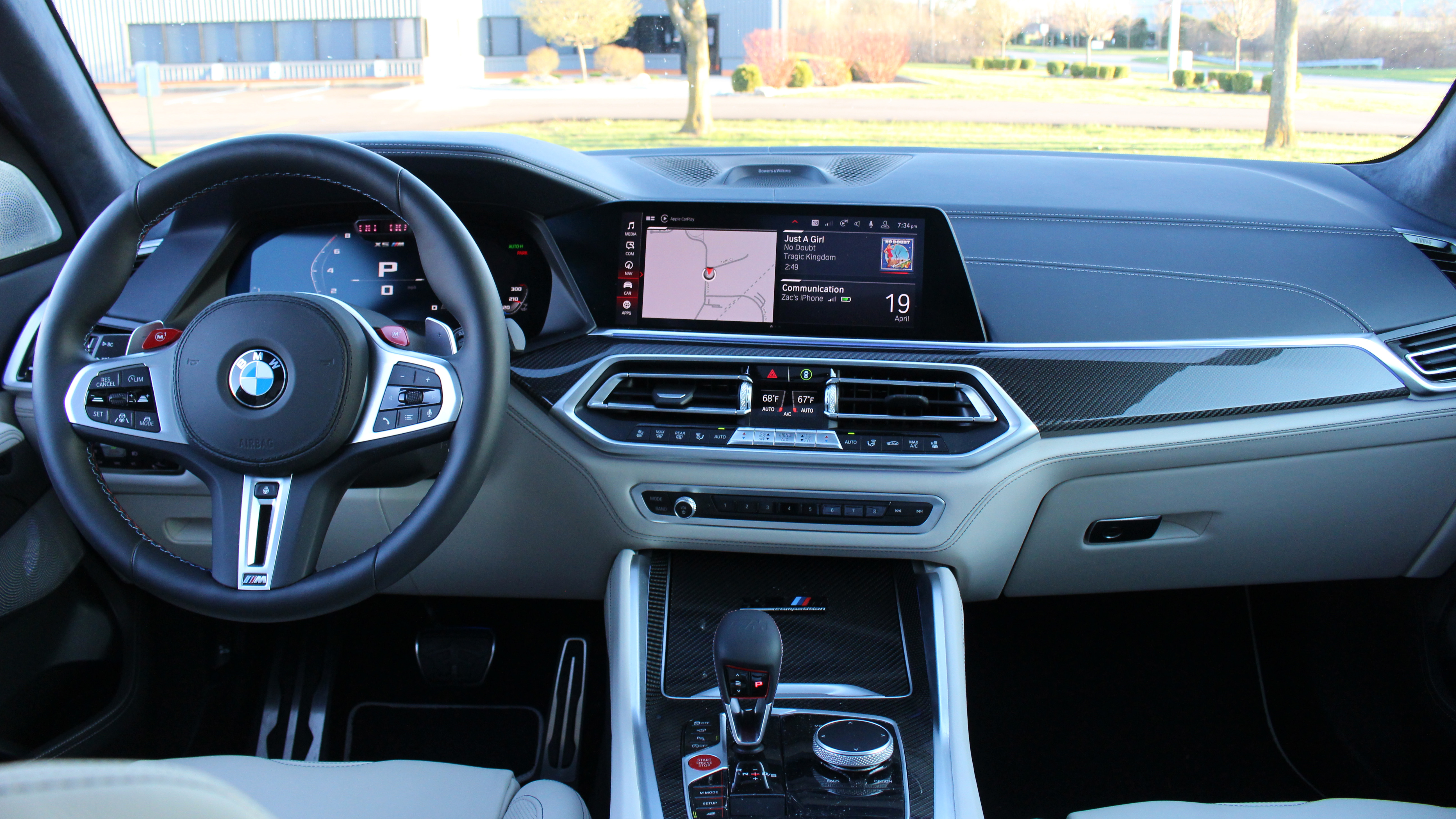 2020 Bmw X5 M Competition Interior Driveway Test The Big M Crossover Autoblog
