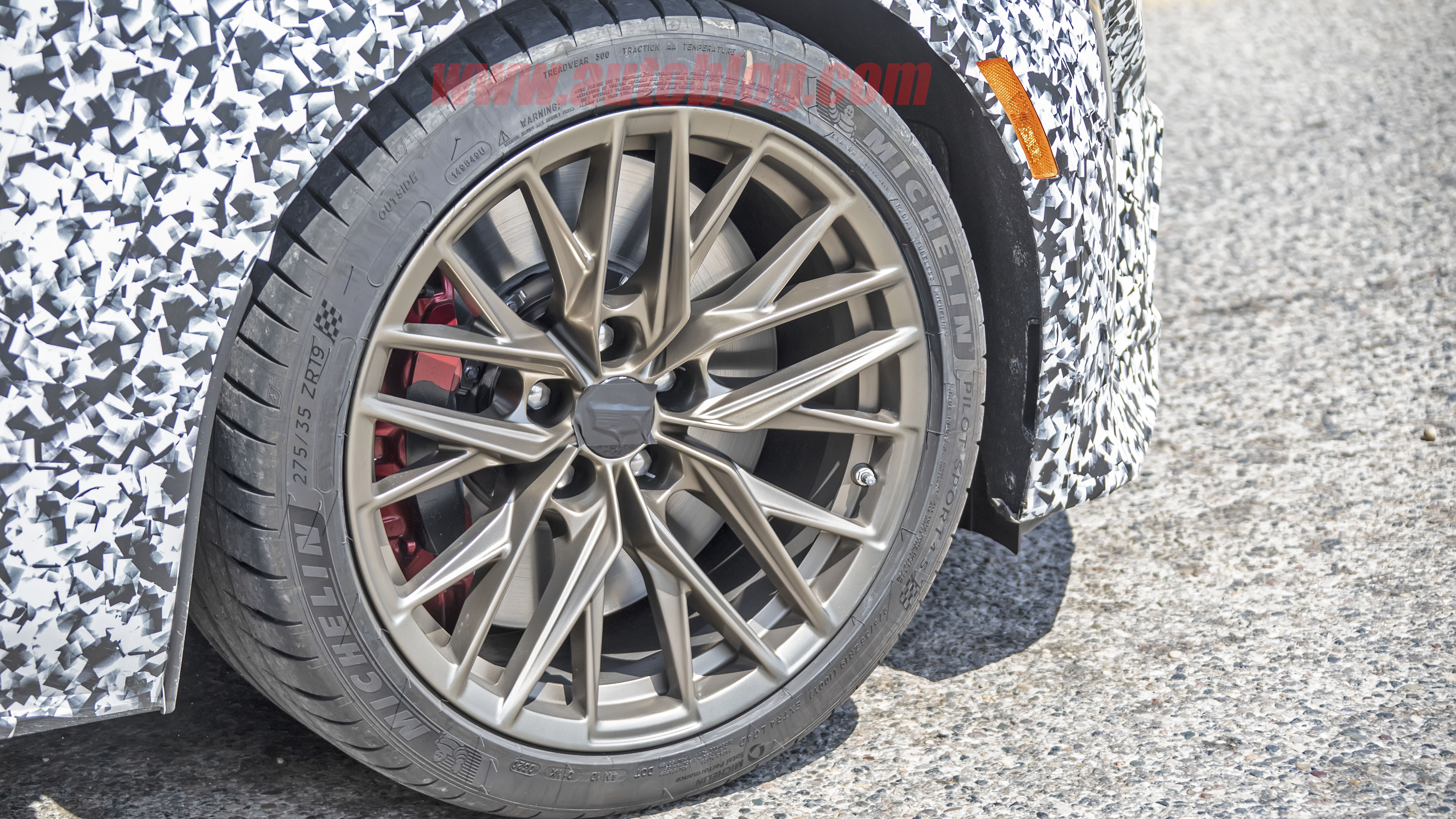 2021 Cadillac CT5-V Blackwing up close, showing off bronze ...