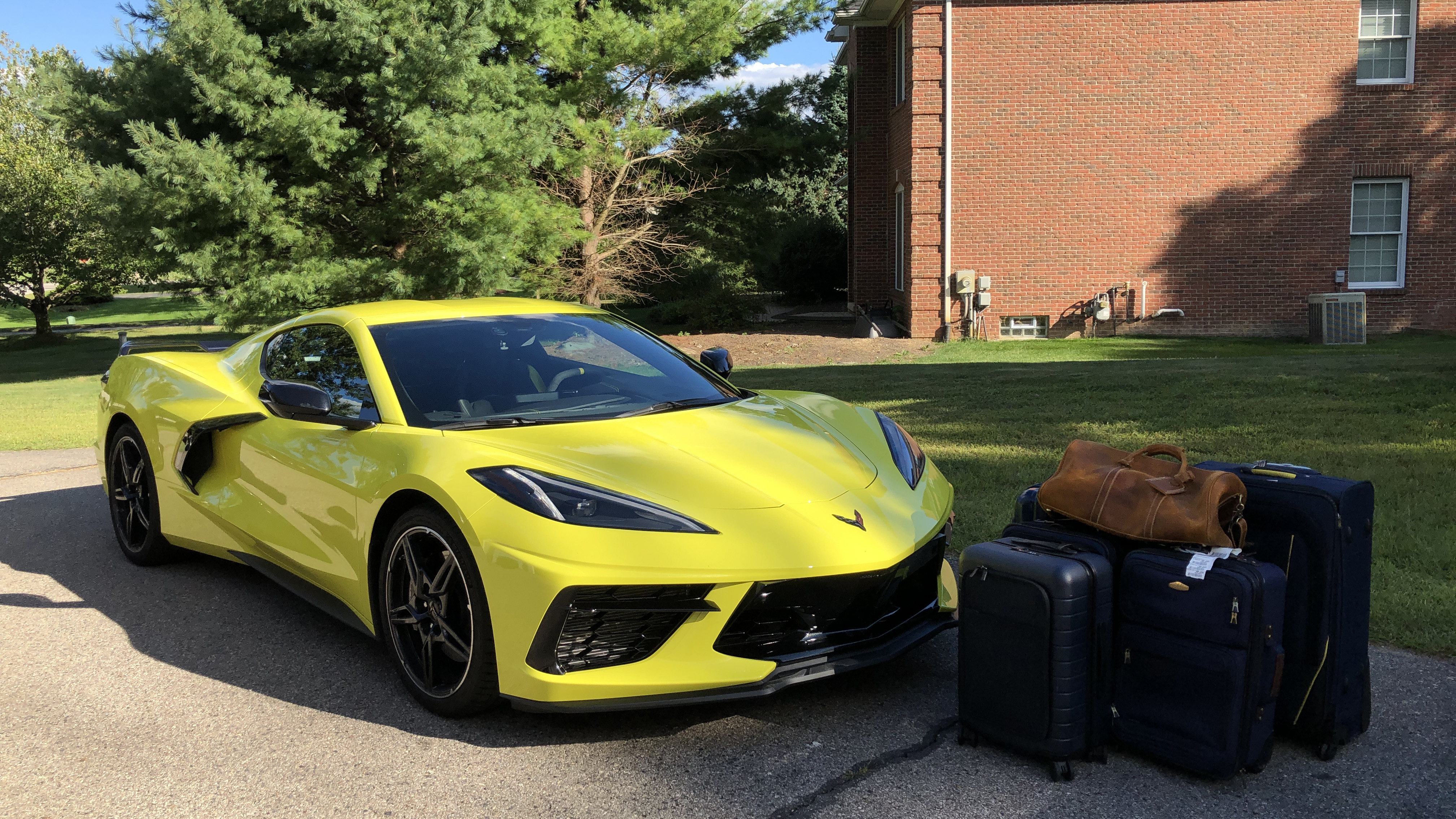 2020 Chevrolet Corvette Luggage Test Capacity Photos Suitcases Autoblog