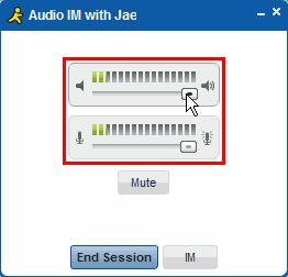 Audio IM with Jae