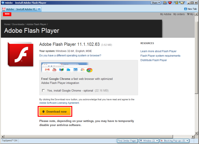 install flash player