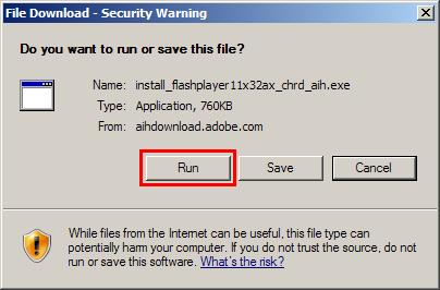 run file