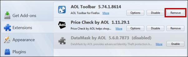 Remove AOL Toolbar