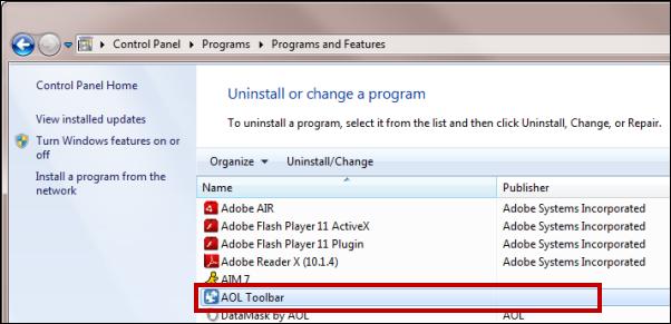 AOL Toolbar