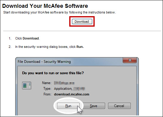 Download Your McAfee Software