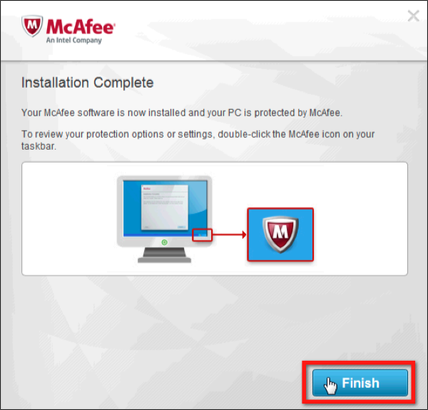 McAfee Installation Complete