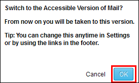 Switch to the Accessible Version of Mail