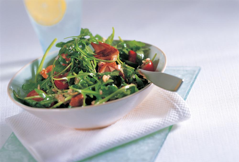Warm Tea-Smoked Salmon Salad