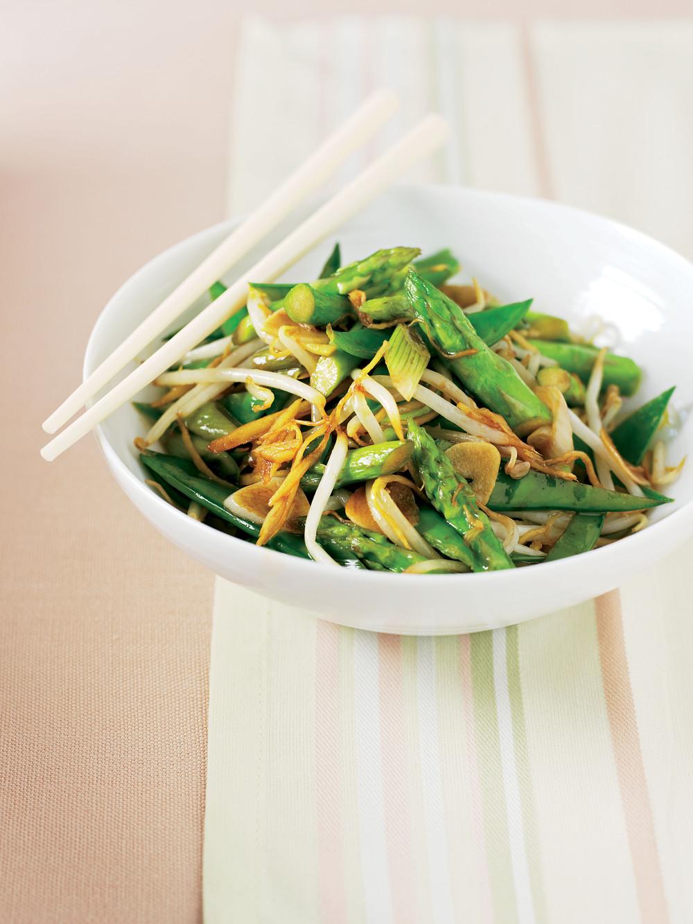 Asparagus & Mangetout Stir-Fry