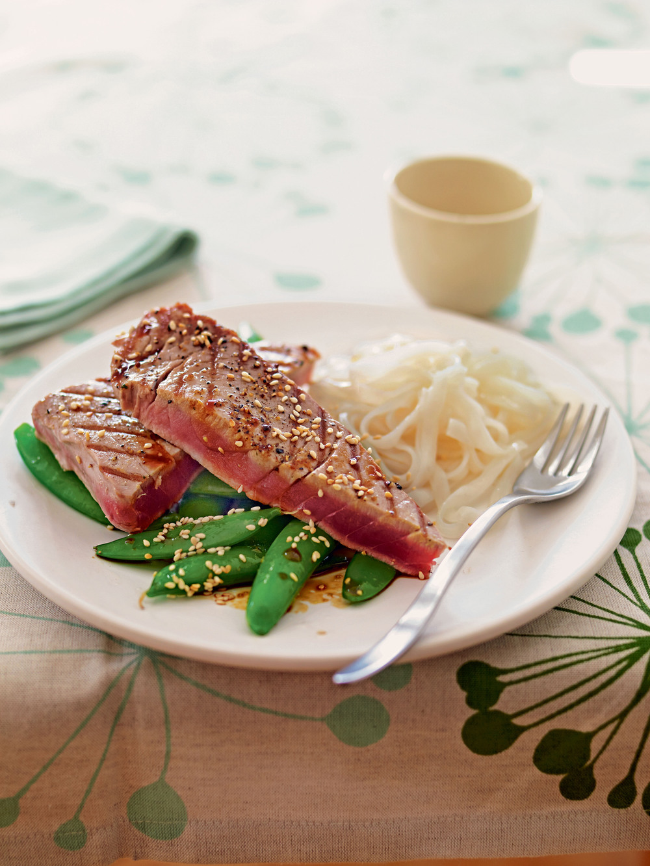 Tuna Steaks with Wasabi Dressing