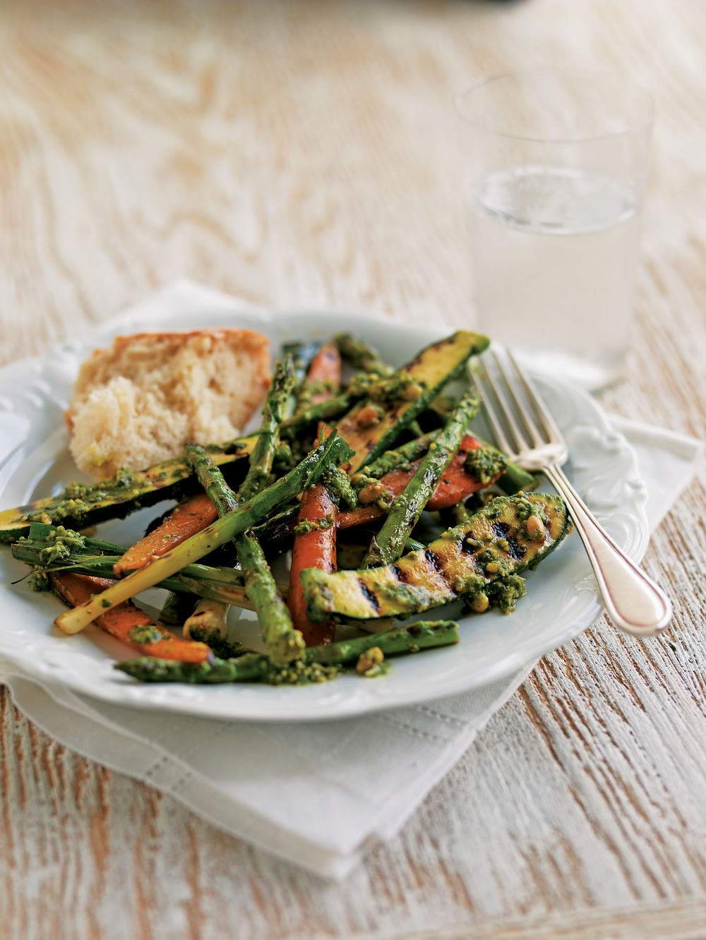 Baby Vegetables with Pesto