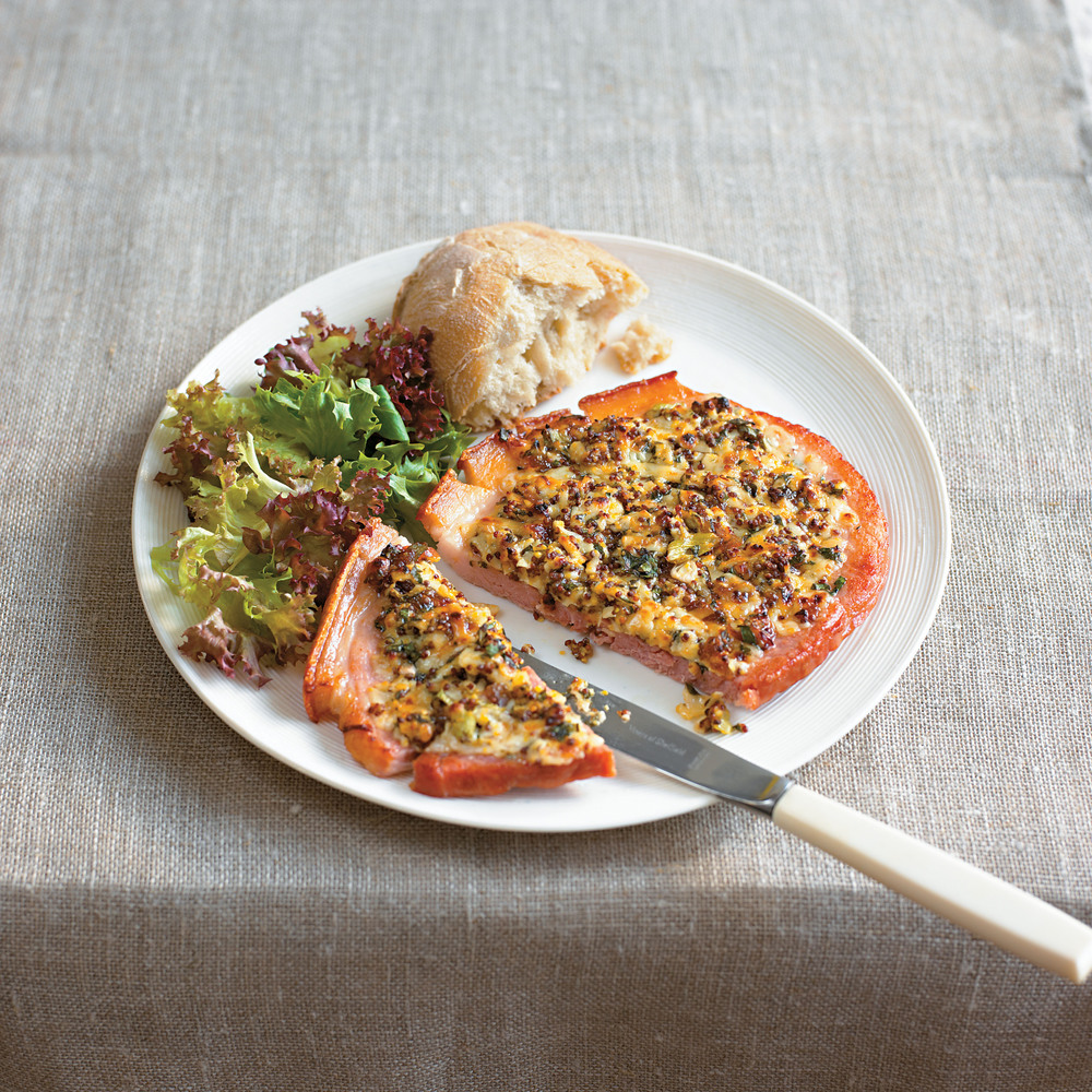 Mustard and Cheese Grilled Gammon