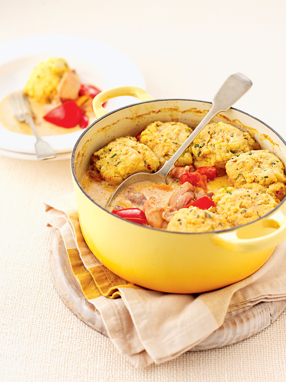 Chicken with Cornmeal Dumplings