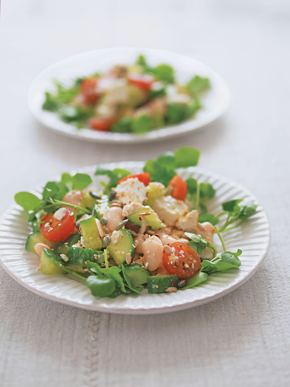 Butter Bean, Tomato and Feta Salad